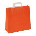 """Пакет крафт """"Красный апельсин"""", 32 х 12 х 32 см"""