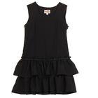 Сарафан для девочки, рост 122 см, цвет чёрный 13-007-1