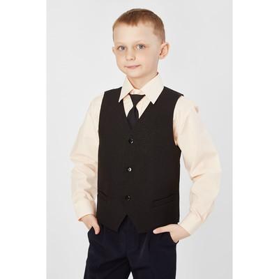 Жилет для мальчика, рост 164 см, цвет чёрный 15-201-1