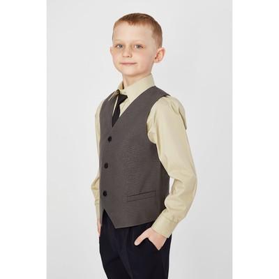 Жилет для мальчика, рост 146 см, цвет тёмно-серый 15-201-1