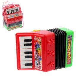 Музыкальная игрушка гармонь «Звери», световые и звуковые эффекты, МИКС