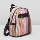 Рюкзак молодёжный, отдел на молнии, 4 наружных кармана, цвет разноцветный