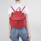 Рюкзак молодёжный, отдел на молнии,3 наружных кармана, цвет красный