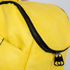 Рюкзак молодёжный, отдел на молнии, 3 наружных кармана, цвет жёлтый