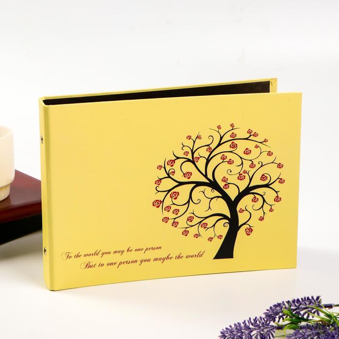 "Фотоальбом 25 листов(уголки+кольца) ""Тисовое дерево"" 27х19 см - фото 7277611"