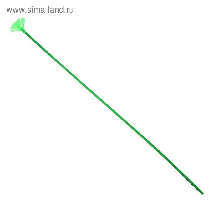 Трубочка+зажим для шаров, d=4 мм, длина 50 см, набор 12 шт., цвет зелёный