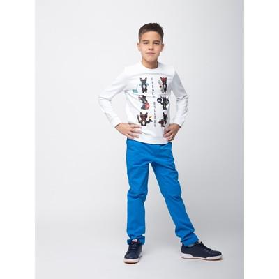 Брюки для мальчика, рост 128 см, цвет синий