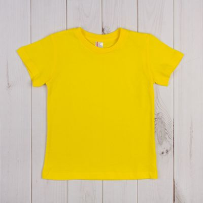 Футболка для мальчика, рост 92 см, цвет жёлтый