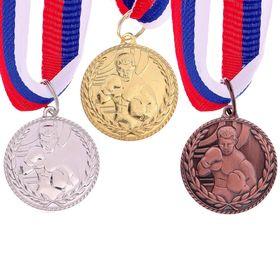 Медаль тематическая 122 'Бокс' серебро Ош