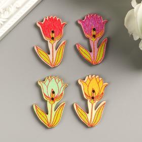 """A set of buttons decorative """"Tulips"""" (set 10 PCs) 4x2. 3 cm"""