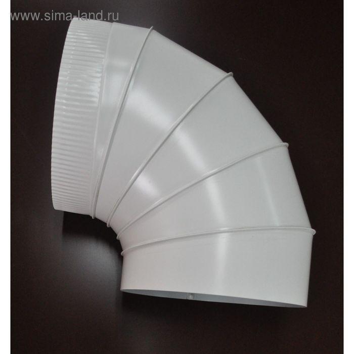 Отвод (поворот 90°) для дымохода и вентиляции, 0,5 , d=100 (мм), с покрытием,  оцинкованная сталь