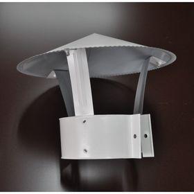 Зонт для дымохода и вентиляции, 0,5, d=130 (мм), с покрытием,  оцинкованная сталь