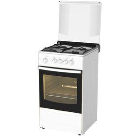 Плита Darina 1 B GM 441 105 W, газовая, 4 конфорки, 43 л, газовая духовка, белая