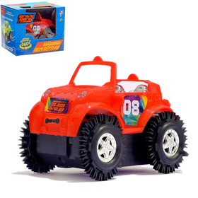 Машина-перевертыш «Кабриолет», работает от батареек, цвета МИКС
