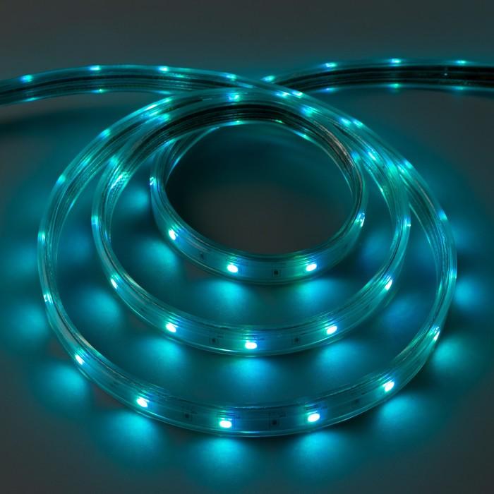 Светодиодная лента Ecola, 14х7 мм, 220 В, RGB, 7.2 Вт, 30 Led/м, IP68, 10 м