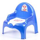 Горшок-стульчик «Ниш» с крышкой, цвет синий перламутровый