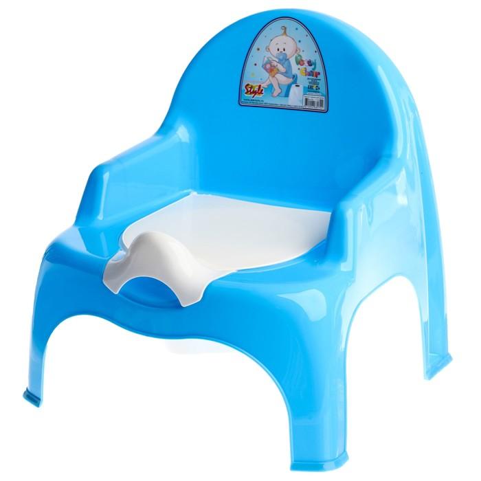 Горшок-стульчик с крышкой, цвет МИКС для мальчика