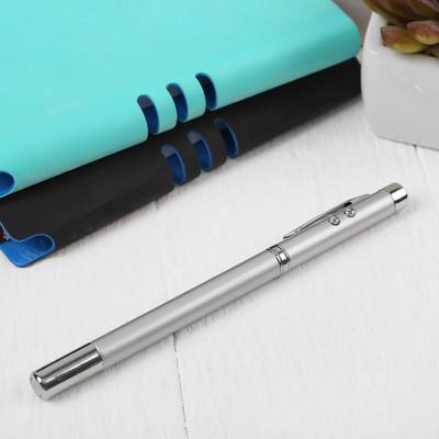 Ручка-лазер «Указка», с фонариком, магнит