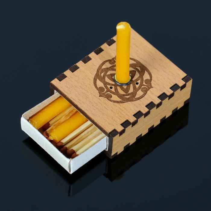 """Набор ларец желаний """"Исполнение желаний"""" со свечками, 5,2х4,5х2 см"""