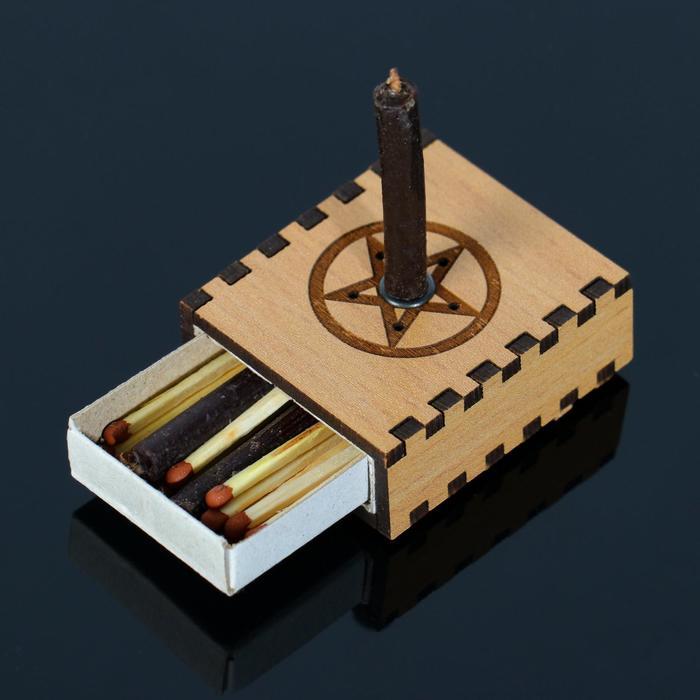 "Набор ларец желаний ""Очищение пространства"" со свечками, 5,2х4,5х2 см"