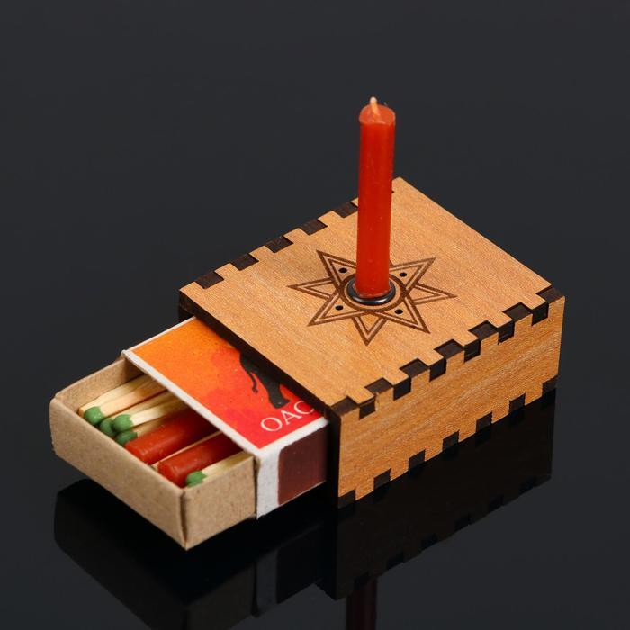 "Набор ларец желаний ""Любовные чары"" со свечками, 5,2х4,5х2 см"
