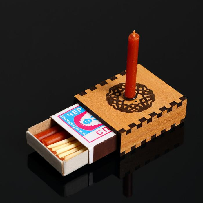 """Набор ларец желаний """"Притяжение любви"""" со свечками, 5,2х4,5х2 см"""