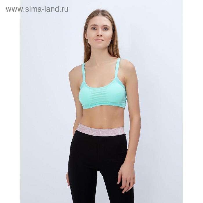 Топ спортивный с чашками ONLITOP Summer beach mint р-р S