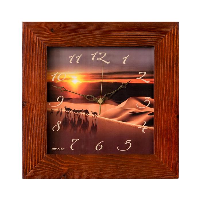 """Часы настенные квадратные """"Караван"""", деревянные"""