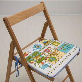 Подушка на стул «Дачная», 41 х 36 х 3 см