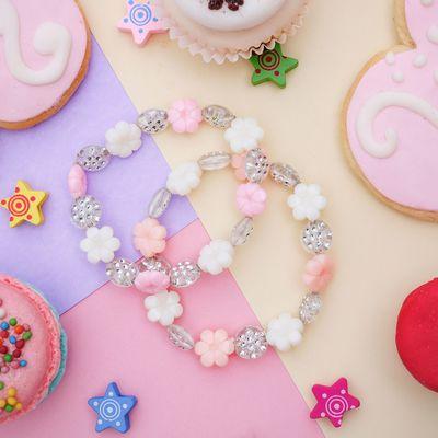 "Bracelet children's ""Vibracula"" flowers gentle, color white-pink"