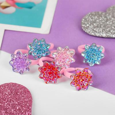 """Ring baby """"Vibracula"""" glitter stars, MIX color, dimensionless"""