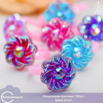 "Ring children's ""Vibracula"" glitter flowers, MIX color, dimensionless"