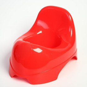 Горшок детский «Львёнок», цвет красный