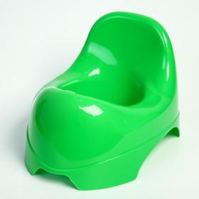 Горшок детский «Львёнок», цвет зелёный