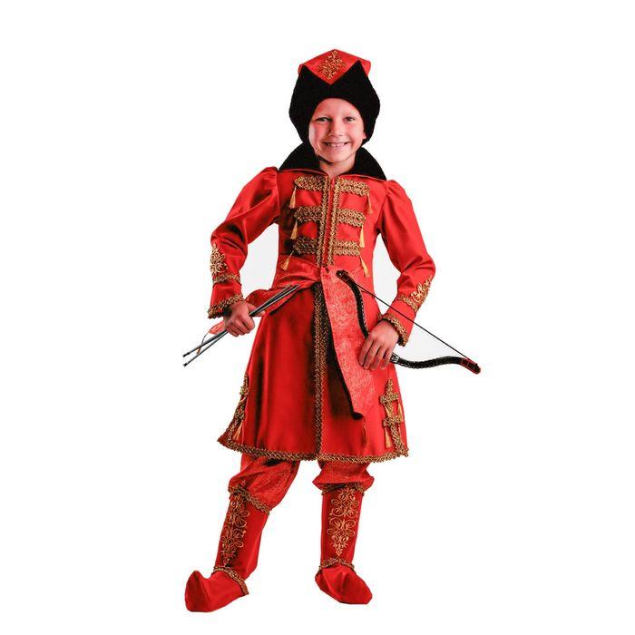 Карнавальный костюм «Иван Царевич», (бархат и парча), размер 30, рост 116 см - фото 899600