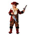 Карнавальный костюм «Капитан пиратов», (бархат, парча), размер 32, рост 122 см, цвет коричневый