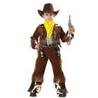 Карнавальный костюм «Ковбой», бархат, рост 116 см