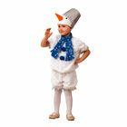 Карнавальный костюм «Снеговичок Снеговишка», плюш, размер 28, рост 110 см