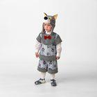 Карнавальный костюм «Волчонок Кирюшка», (шапка-маска, жилет, шорты), размер 28, рост 110 см