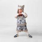 Карнавальный костюм «Котёнок Барсик», маска, жилет, шорты, размер 26, рост 104 см