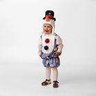 Карнавальный костюм «Снеговичок Снежник», плюш, размер 26, рост 104 см
