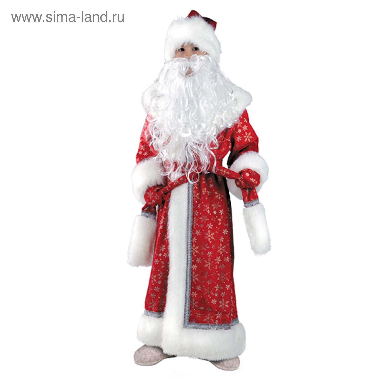 Детский карнавальный костюм «Дед Мороз», плюш, размер 32-34, рост ... 436d0db05e1