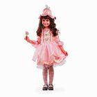 Карнавальный костюм «Дюймовочка», платье, шапка-колокольчик, рост 122 см