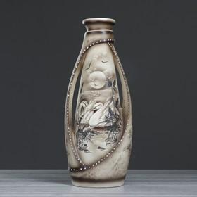 """Ваза напольная """"Венеция"""" жемчуг, лебеди, 65 см, микс - фото 1703003"""