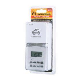 Розетка-таймер Elektrostandard TMH-E-6 ES, электронная, 10 программ, IP44