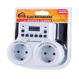 Розетка-таймер Elektrostandard TMH-E-5 ES, электронная, 10 программ, IP20