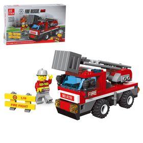 Конструктор «Пожарная машина с лестницей», 126 деталей