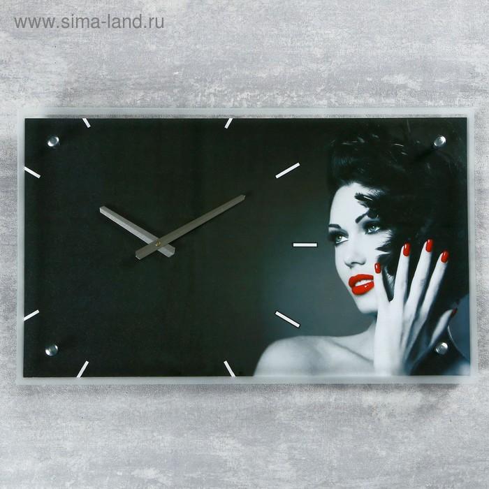 """Часы настенные прямоугольные """"Девушка"""", 35х60 см"""
