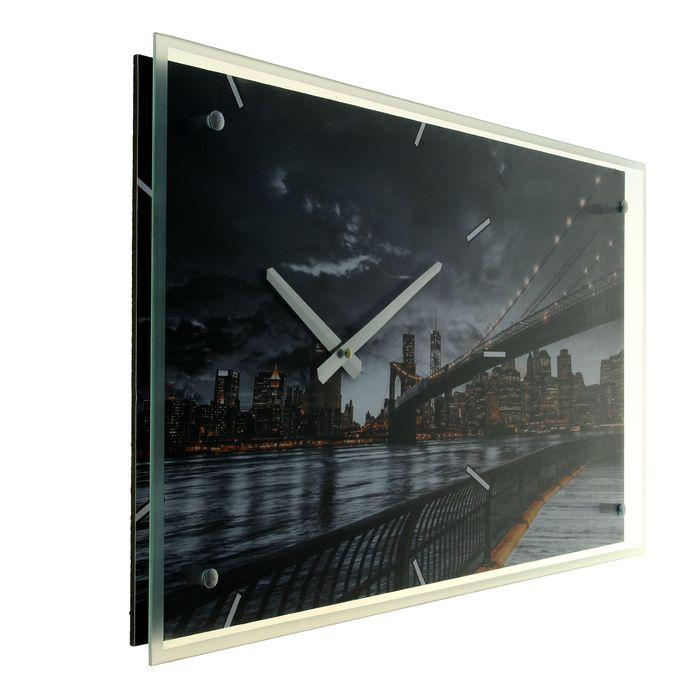 """Часы настенные прямоугольные """"Бруклинский мост"""", 35х60 см"""