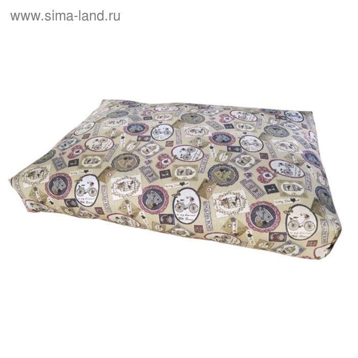 """Матрац прямоугольный """"Штампы"""",  70х48х10 см"""